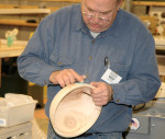 John Noyes applies Chryascola powder during November 2006 meeting